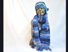 W 015 Knitted Multicolour Scarf