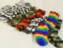 W 044 Knitted Wool Socks