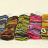 W 048 Wool Knitted Multicoloured Handwarmers