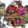 W 27 Wool Silk Beanie Plait Ears Pom Top Colours